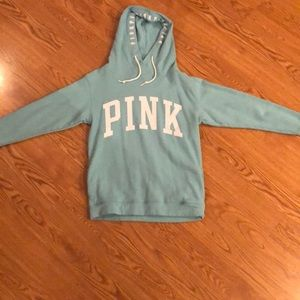 PINK turquoise pullover hoodie